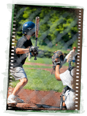 Having Baseball Fun at Camp